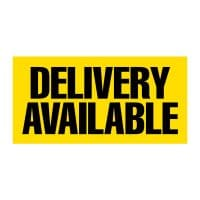Delivery Available (Yellow) Vinyl Banner