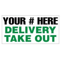 Delivery Take Out Vinyl Banner
