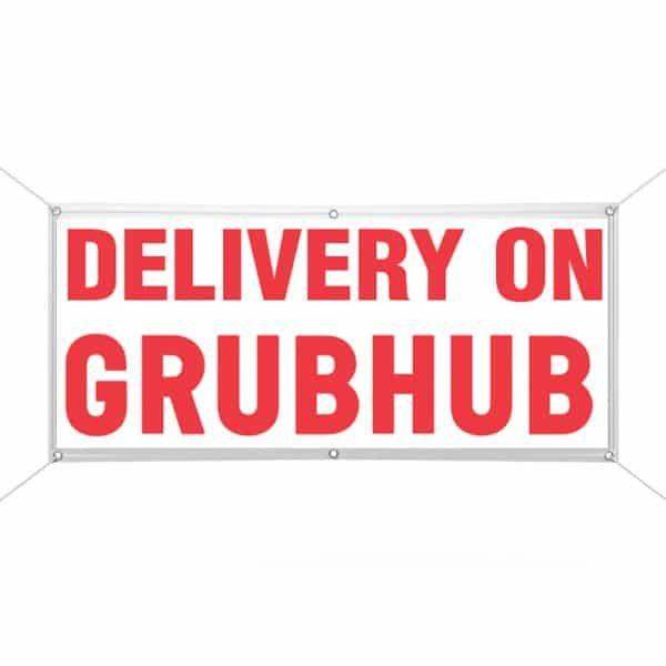 Delivery on Grubhub banner