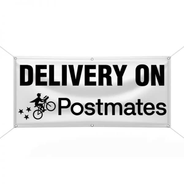 Delivery on Postmates Banner