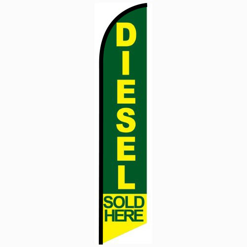 Diesel Sold Here feather flag