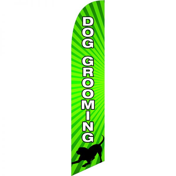 Dog Grooming Feather Flag
