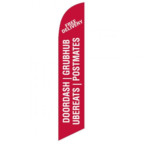 Doordash Grubhub Ubereats Postmates-Feather-Flag-FFN-99937