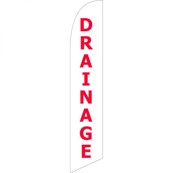 Drainage Feather Flag