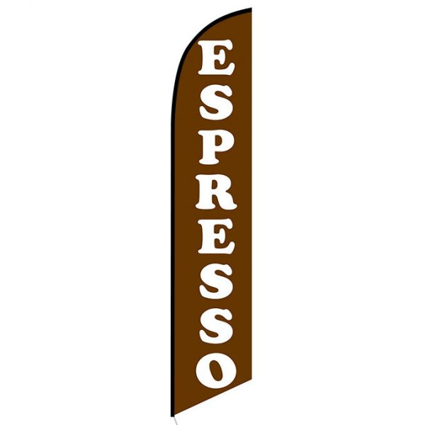 Espresso Feather Flag