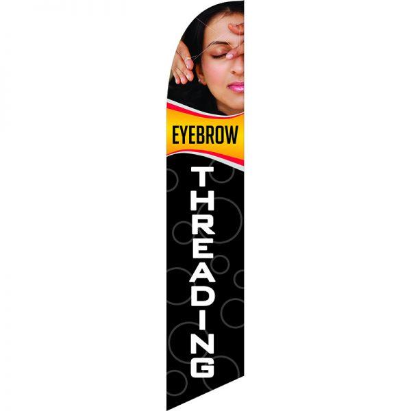 Eyebrow Threading Feather Flag
