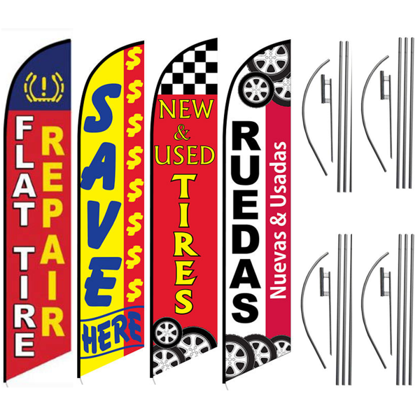 FLAT-TIRE-REPAIR-NEW-AND-USED-TIRES-RUEDAS-TIRE-SHOP-FEATHER-FLAG-DEALS