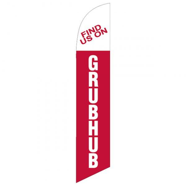 Find us on grubhub-Feather-Flag-FFN-99941