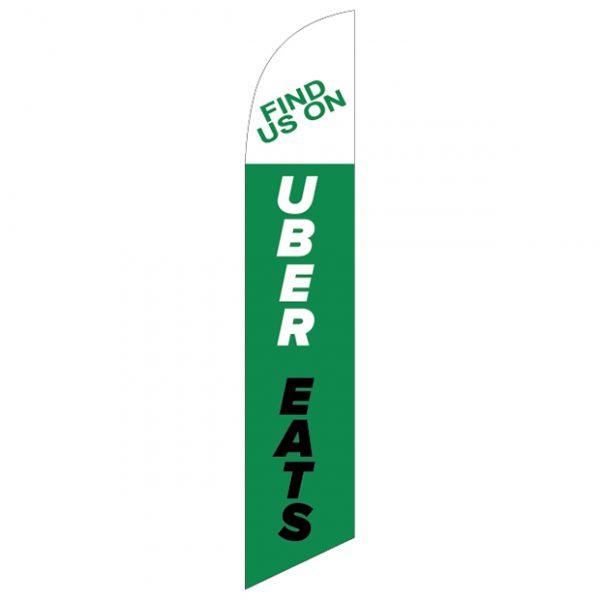 Find us on uber eats-Feather-Flag-FFN-99943