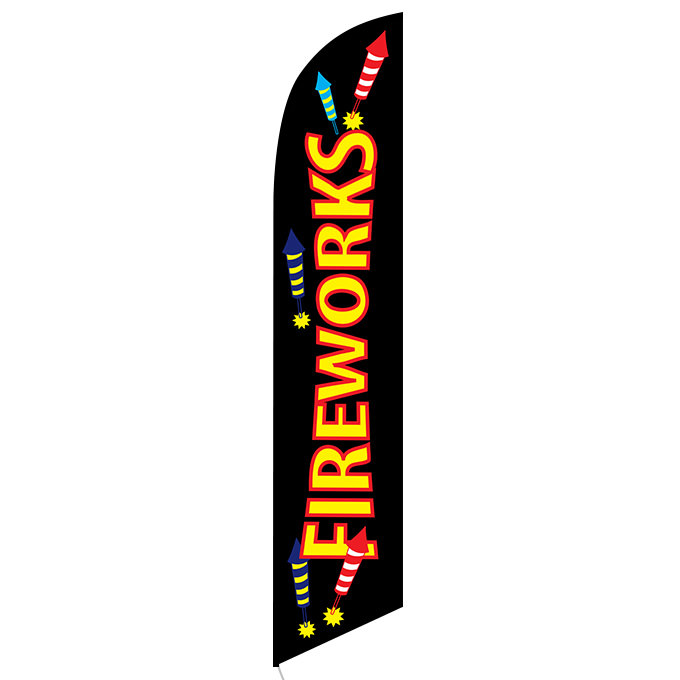 Fireworks Feather Flag Holiday Independence Day Ffn