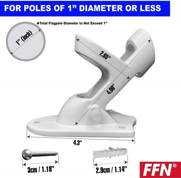 Flag-pole-mount-dimensions