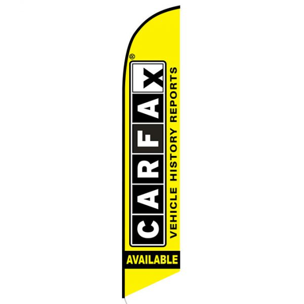 Free Carfax Report feather flag