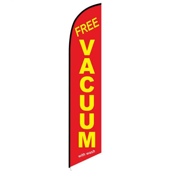 Free Vacuum with wash feather flag