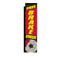 Free Brake Check Rectangle Flag