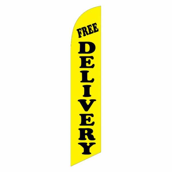 Free-delivery-feather-flag-yellow