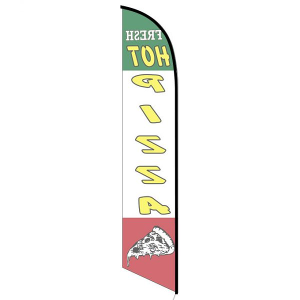 Fresh Hot Pizza Feather Flag