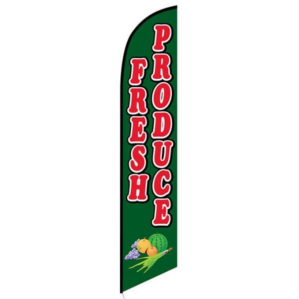 Fresh Produce Feather Flag