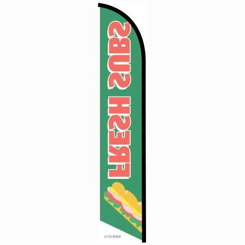 Fresh Subs Feather Flag