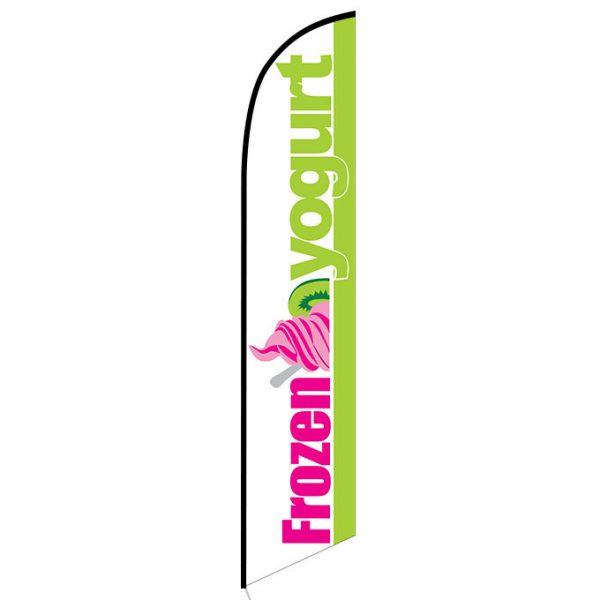 Frozen Yogurt Feather Flag