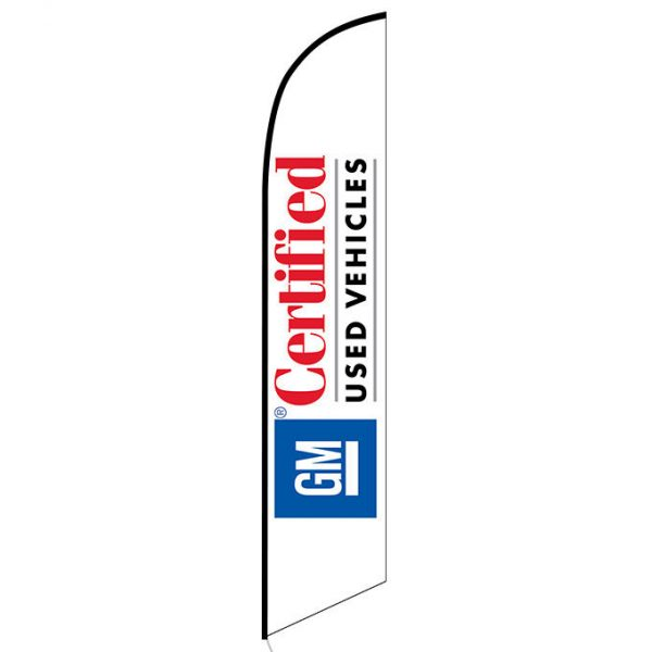 GM certified Used Vehicles feather flag