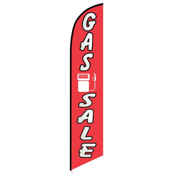 Gas Sale Feather Flag