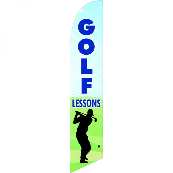 Golf Lessons Feather Flag