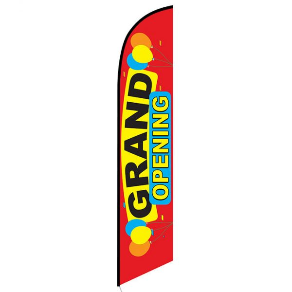 Grand Opening (red) Feather Flag FFN-5333 frontGrand Opening (red) Feather Flag FFN-5333 front