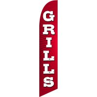Grills Feather Flag Kit with Ground Stake