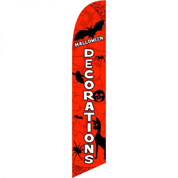 Halloween Decorations Feather Flag