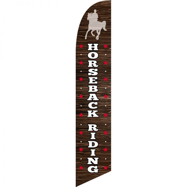 Horse Back Riding Feather Flag