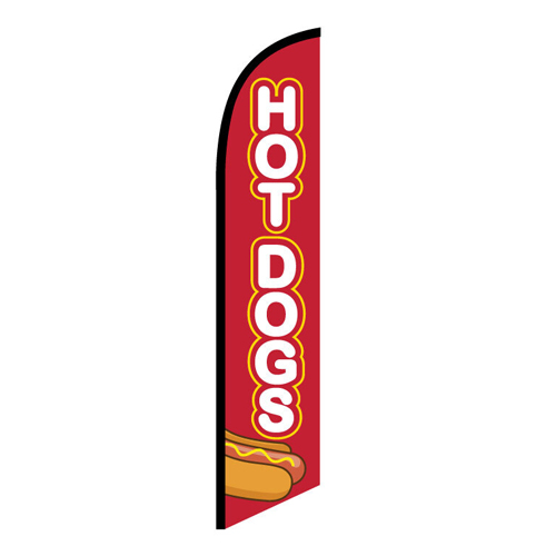 Hot Dogs Feather Flag FFN-5910