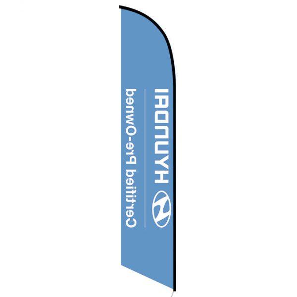 Hyundai CPO feather flag