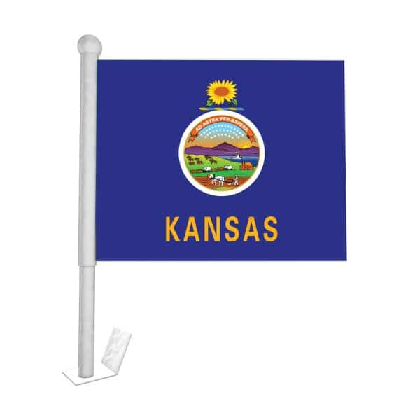 Kansas State Car Flag