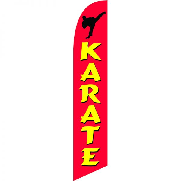 Karate 02 Feather Flag