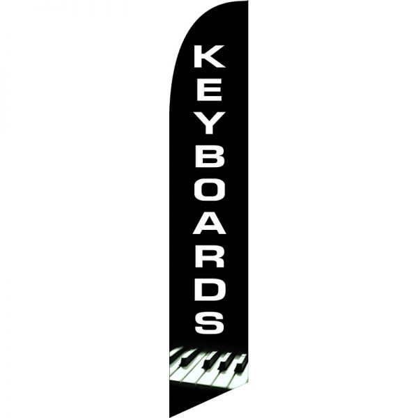Keyboards Feather Flag