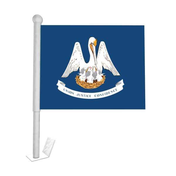 Louisiana State Car Flag