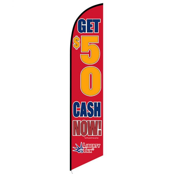 Liberty Tax Get $50 feather flag