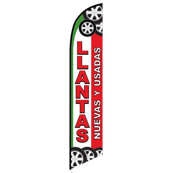 Llantas nuevas y usados feather flag