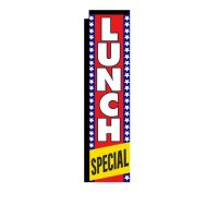 Lunch Special Rectangle Banner Flag