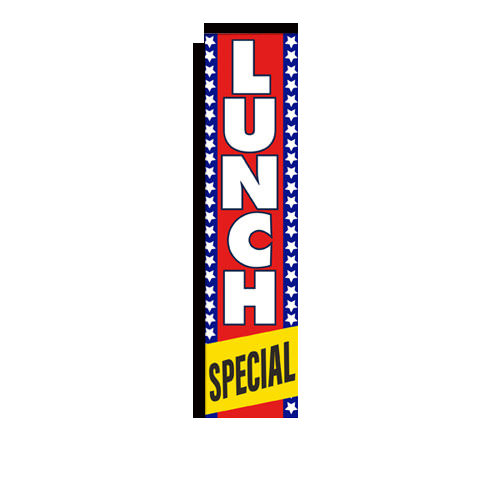 lunch special rectangle flag