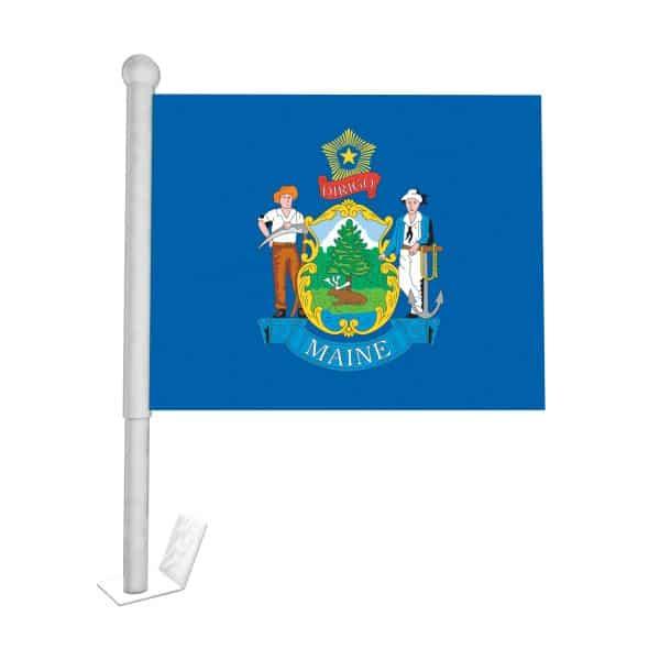 maine state car flag