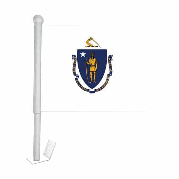 Massachusetts State Car Flag