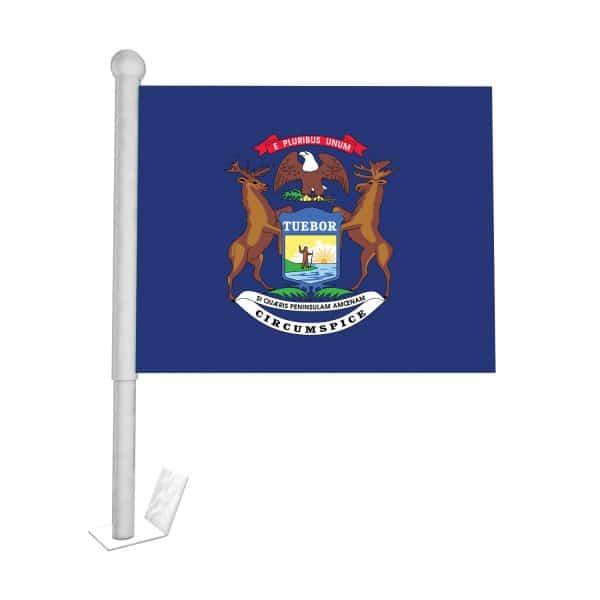 michigan state car flag