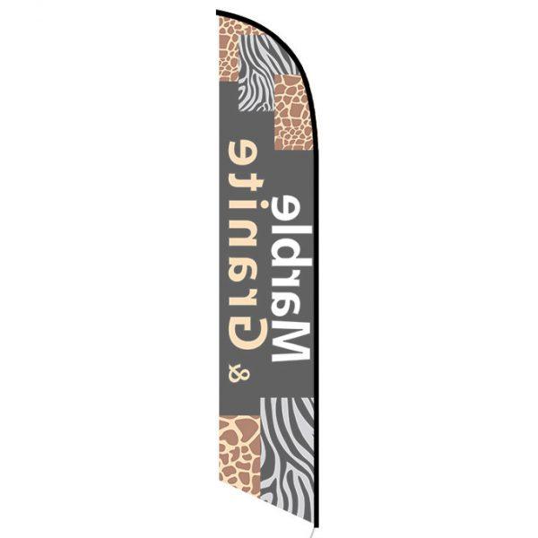 Marble Granite banner flag
