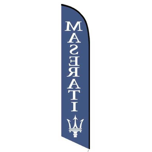 Maserati feather flag