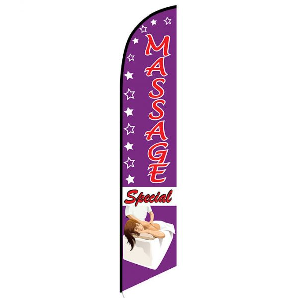 Massage special feather flag