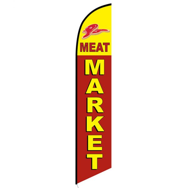 Meat Market Feather Flag