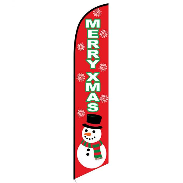 Merry Xmas feather flag