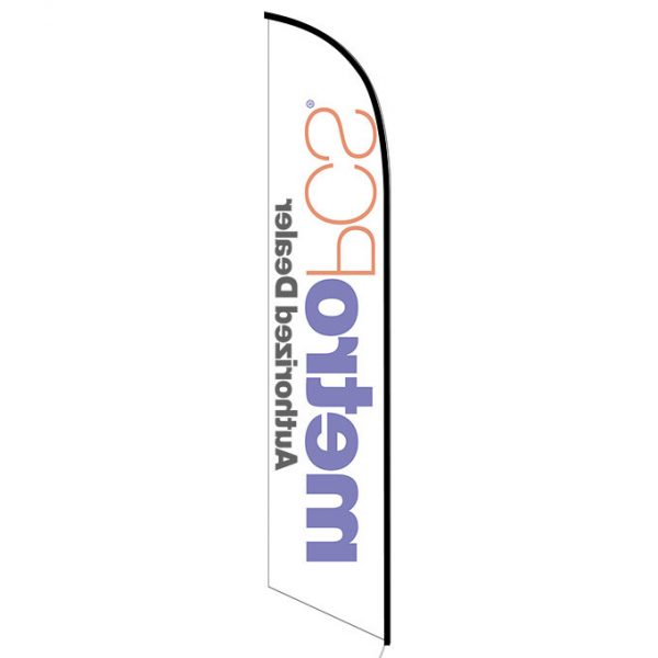 MetroPCS Authorized Dealer white Feather Flag