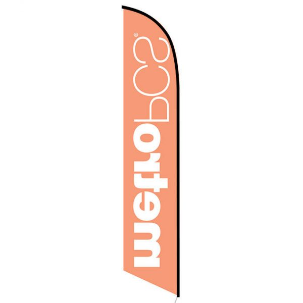 MetroPCS Orange Feather Flag